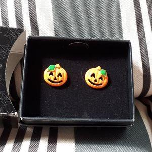 LAST 1 👻 Halloween Pumpkin Earrings NEW